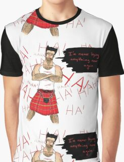 Wolverine in a Kilt Graphic T-Shirt