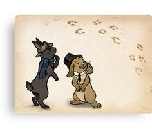 Sherlock and Watson Bunnies Canvas Print