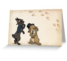 Sherlock and Watson Bunnies Greeting Card