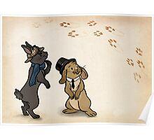 Sherlock and Watson Bunnies Poster