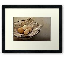 « Eggs from the buxom-Farm Girl » Framed Print