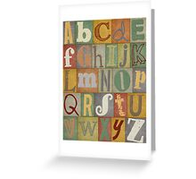 Retro Alphabet Greeting Card