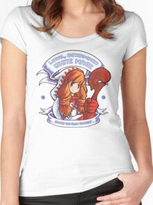 Loyal, Determined White Mage Women's Fitted Scoop T-Shirt