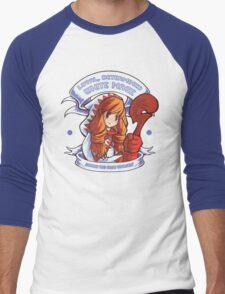 Loyal, Determined White Mage Men's Baseball ¾ T-Shirt