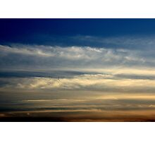 Birds flying at sunset  Photographic Print