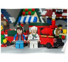 Doc and Marty and a Xmas Train Poster