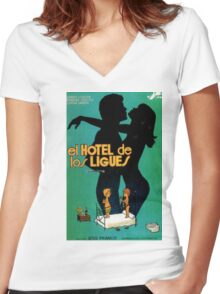 The Hotel  Women's Fitted V-Neck T-Shirt