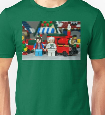 Doc and Marty and a Xmas Train Unisex T-Shirt