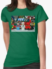 Doc and Marty and a Xmas Train Womens Fitted T-Shirt