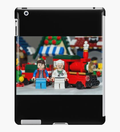 Doc and Marty and a Xmas Train iPad Case/Skin