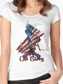 Elk Old Glory Women's Fitted Scoop T-Shirt