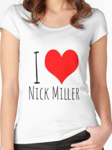 I Love Nick Miller 2 Women's Fitted Scoop T-Shirt