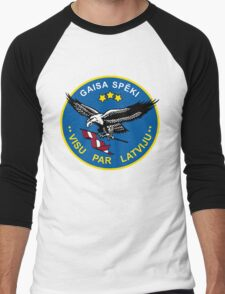 Latvian Air Force Emblem Men's Baseball ¾ T-Shirt