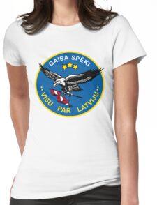 Latvian Air Force Emblem Womens Fitted T-Shirt