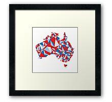 Abstract Australia Aussie Patriot Framed Print