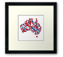 Abstract Australia Aussie Patriot Framed Print