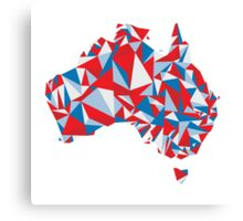 Abstract Australia Aussie Patriot Canvas Print