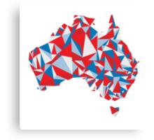 Abstract Australia Aussie Patriot Canvas Print