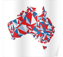 Abstract Australia Aussie Patriot Poster