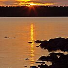 summer sunset by a lake in Kuhmo Finland by Susanna Hietanen