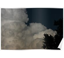 BIG FLUFFY SUMMER CLOUDS Poster