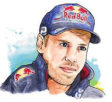 Sebastian Vettel-  Red Bull Racing - Formula One by Tetura