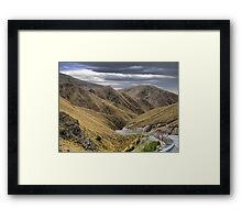 From the Crown Range Road. ( 7 ) Through the Khyber Pass ? Framed Print