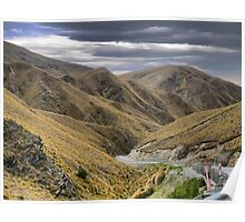From the Crown Range Road. ( 7 ) Through the Khyber Pass ? Poster
