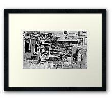 Men Drowning by Coal/Light. Framed Print