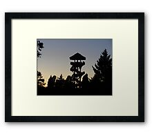 The Lonely Lookout (Color) Framed Print