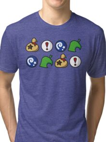 Animal Crossing Items 2 (in many colours!) Tri-blend T-Shirt