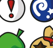 Animal Crossing Items 2 (in many colours!) Sticker