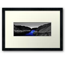 Sapphire Water Framed Print