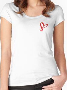 Simplistic Pixel Heart Women's Fitted Scoop T-Shirt
