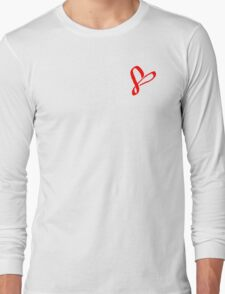 Simplistic Pixel Heart Long Sleeve T-Shirt