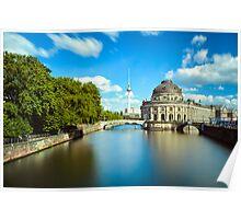 Museum island on Spree river, Berlin Poster
