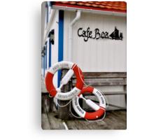 Cafe Boa, Foto, Sweden Canvas Print