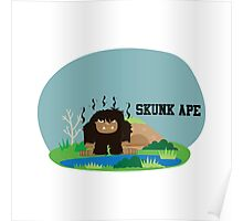 Cute Skunk Ape Poster