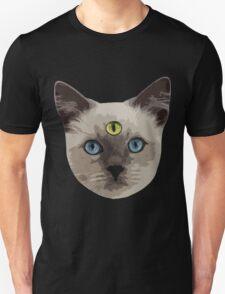 Good Vibes Cat - Yellow Eye Unisex T-Shirt