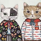 Kitty Couple by Emma Hampton