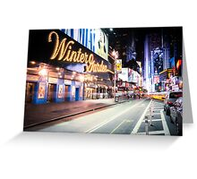 Times Square and Broadway at Night - New York City Greeting Card
