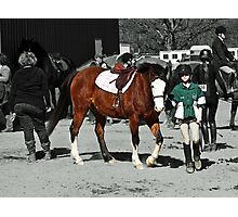 A girl and her quarterhorse Photographic Print