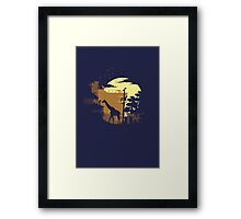 The Last of Us Ellie & Giraffe Framed Print