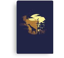 The Last of Us Ellie & Giraffe Canvas Print
