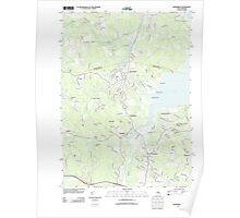 USGS TOPO Map New Hampshire NH Newmarket 20120607 TM Poster