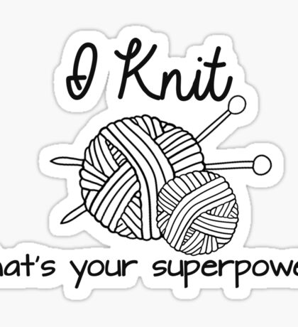 I Knit Sticker