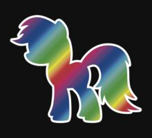 Rainbow Pony Silhouette by graphix