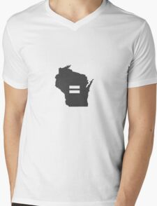Wisconsin Equality Mens V-Neck T-Shirt