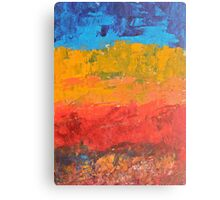 Namibia - peach and cyan blue Canvas Print