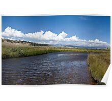 Middle Fork and Clouds Poster